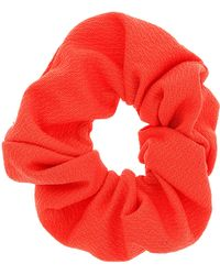 Topshop Orange Fabric Hair Scrunchie - Lyst