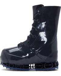 Raf Simons Slate Blue Bunny Bounce Platform Runway Boots - Lyst