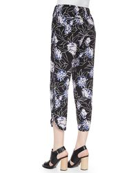 Thakoon Addition - Floral-print Cropped Silk Trousers - Lyst