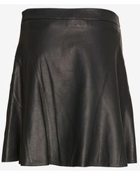 10 Crosby Derek Lam Exclusive Leather Flare Skirt Hunter Green - Lyst