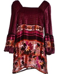 Anna Sui Blouse red - Lyst