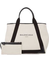 Balenciaga White Canvas Tote - Lyst
