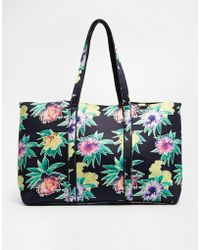 Asos Floral Scuba Beach Bag floral - Lyst