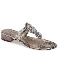 Adrianna Papell 'Darlene' Crystal Embellished Thong Sandal - Lyst