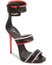 Giuseppe Zanotti 'Sport' Perforated Leather Sandal - Lyst