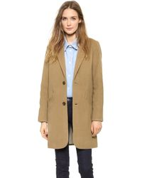 A.P.C. Manteau Chesterfield Coat Tabac - Lyst