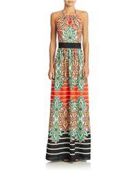 Eliza J Floral Maxi Dress - Lyst