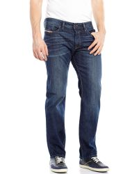 Diesel Dark Wash Waykee Regular Straight Jeans - Lyst