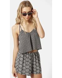 Topshop 'Troubador' Strappy Sleeveless Top gray - Lyst