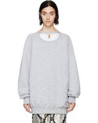 Ashish Grey Trompe_Loeil Sweatshirt gray - Lyst