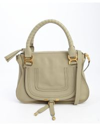 Chloé Green Leather Marcie Convertible Top Handle Bag - Lyst