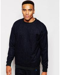 2 X H Brothers - 2x H Brothers Wool Mix Sweatshirt In Pinstripe - Lyst