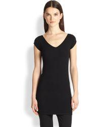 Donna Karan New York Cashmere Cap-Sleeve Sweater - Lyst