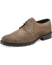 Ben Sherman Suede Lace-up Wingtip - Lyst