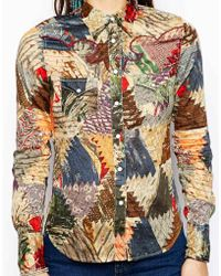 Denim & Supply Ralph Lauren - Denim and Supply by Ralph Lauren Patchwork Print Cowgirl Shirt - Lyst