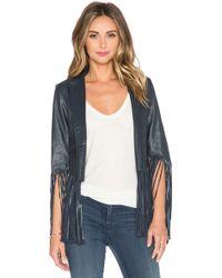 Love Sam - Leather Fringe Jacket - Lyst