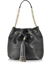 Class Roberto Cavalli - Glam Rock Black Bucket Bag - Lyst