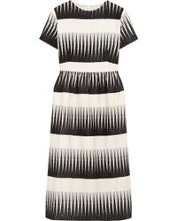 Suno Embroidered Wooltwill Dress - Lyst