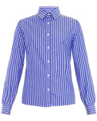 Stella Jean Carmela Striped Cotton Shirt - Lyst