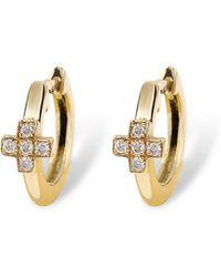 Nayla Arida - Creole Hoop Earrings Diamond - Lyst