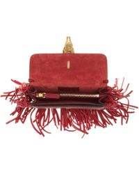 Valentino Gryphon Fringed Leather Clutch - Lyst