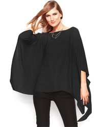 Vince Camuto Butterfly-Sleeve Chiffon Poncho - Lyst