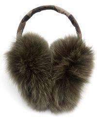 Maison Michel Fox Fur Ear Muffs - Lyst