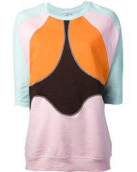 Carven - Panelled Front Sweatshirt - Lyst