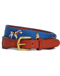 Brooks Brothers Duck Hunting Needlepoint Belt - Lyst
