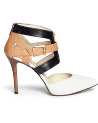 MICHAEL Michael Kors 'Anya' Cutout Strap Sandals - Lyst