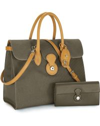 Ralph Lauren Canvas Ricky Tote - Lyst