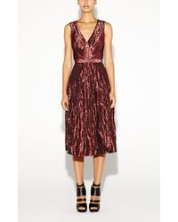 Nicole Miller Metal Taffeta Dress - Lyst