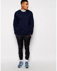 Asos Sweatshirt with Roll Neck - Lyst