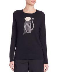 DKNY | Intarsia-knit Monkey Sweater | Lyst
