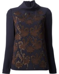 Tory Burch Beaded Blouse - Lyst
