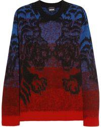 Just Cavalli Tiger Intarsia Woolblend Sweater - Lyst