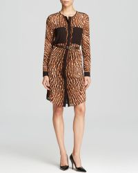 Michael by Michael Kors Mowani Animal Print Shirt Dress - Lyst