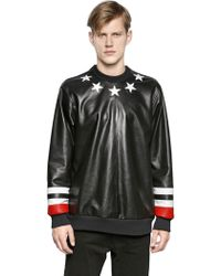 Givenchy Stars  Stripes Nappa Leather Sweatshirt - Lyst