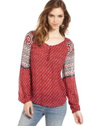 Lucky Brand Jeans Printed Top - Lyst