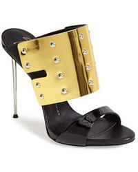 Giuseppe Zanotti 'Coline' Metallic Cuff Sandal gold - Lyst