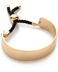 Jules Smith Thick Plate Wrap Bracelet Gold - Lyst