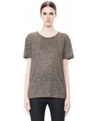Alexander Wang Heather Linen Short Sleeve Crew Neck Tee - Lyst