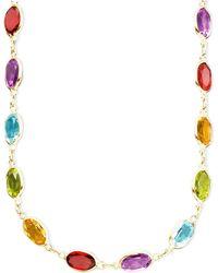 Eci - 14k Gold Multistone Necklace - Lyst