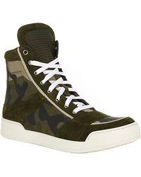 Balmain Camo Print High Top Sneaker - Lyst