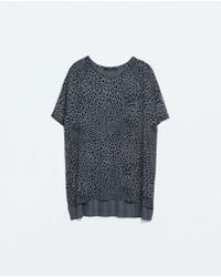 Zara T-Shirt - Lyst