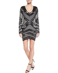 Hervé Léger Rowyn Geometric Beaded Dress - Lyst