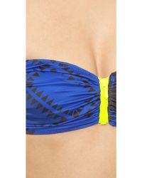 Preen By Thornton Bregazzi - Farrah Bikini - Blue Palm - Lyst