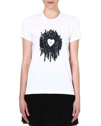 Markus Lupfer Kate Sequin Embellished Tshirt White - Lyst