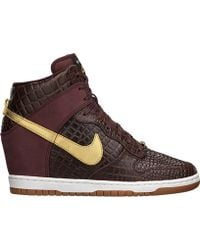 Nike Dunk Sky Hi Qs City (Milan) brown - Lyst