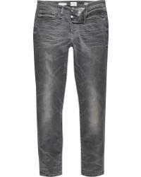 River Island | Grey Wash Ri Flex Skinny Jeans | Lyst